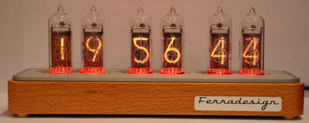 Wooden Nixie Clock Light